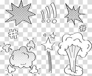 ilustrasi ledakan kaboom putih, Komik ledakan awan dialog png