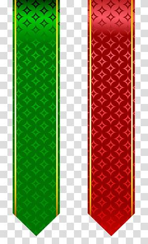 , Set Band Merah dan Hijau, dua gerobak klip pita hijau dan merah PNG clipart