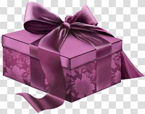 kotak pita bunga maroon, pembungkus kado Hadiah Natal, Hadiah 3D Merah Muda png