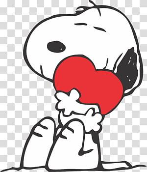 Snoopy memeluk ilustrasi hati, Snoopy Charlie Brown Wood Hari Valentine Kacang, snoopy png
