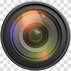 ikon kamera hitam, Lensa kamera Kamera video, Lensa png