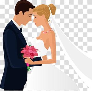 Bridegroom Marriage Undangan pernikahan, ilustrasi pasangan, pengantin pria dan jembatan PNG clipart
