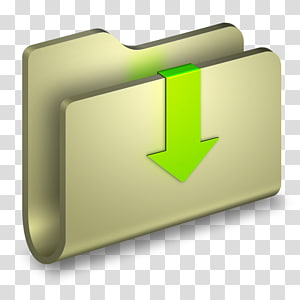 folder komputer coklat dengan logo panah hijau, font sudut hijau, Folder png