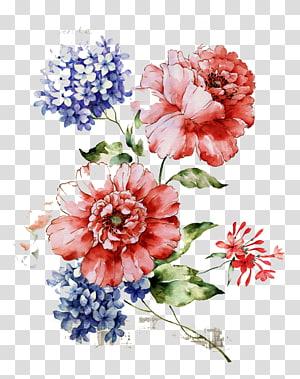 Bunga Desain bunga, Pola bunga vintage yang indah, ilustrasi bunga merah muda png