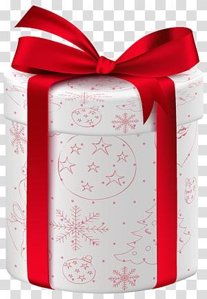 ilustrasi kotak hadiah putih dan merah, hadiah Natal hadiah Natal Kotak Malam, Hadiah Putih Natal png