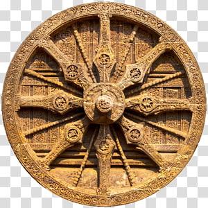 roda kereta coklat bundar vintage, Kuil Konark Sun Temple Hindu Chariot, chakra png