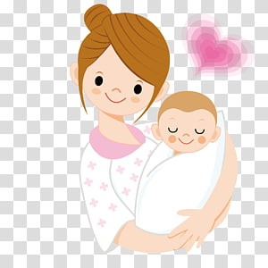 Kartun Ibu Bayi, Ibu menggendong bayi, wanita membawa ilustrasi bayi animasi png