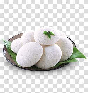 kue beras India putih di piring keramik putih, masakan India Rava idli Dosa Sambar, makanan India png