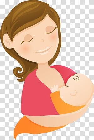 wanita di atas pink memegang ilusi bayi, ASI Menyusui Bayi Ibu, ibu PNG clipart