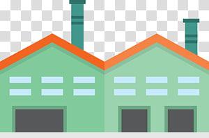 Ikon Fasad Pabrik, pabrik dan gudang kartun Green png
