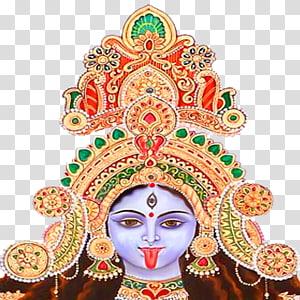 Ilustrasi Dewa Hindu, Dewi Kali Shiva Durga Parwati, dewi durga mata png