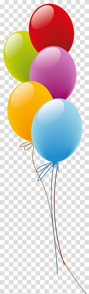 Balon Hadiah Ulang Tahun, pengiriman Bunga, Balon biru, oranye, ungu, merah, dan hijau png