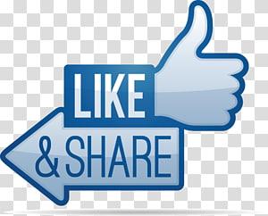suka dan bagikan ilustrasi, Facebook suka tombol Bagikan ikon, facebook png