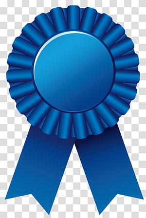 ilustrasi pita biru, Rosette, Blue Rosette Ribbon Clipar png