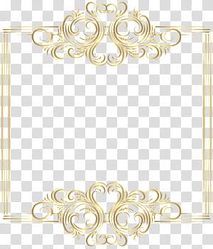 Emas, Bingkai Batas Emas, ilustrasi bingkai emas PNG clipart
