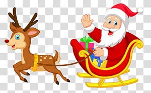 Ilustrasi ornamen Santa Claus Natal Santa Claus, Santa dengan Rudolph, ilustrasi Santa Claus png