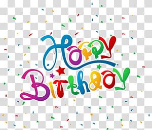 Kartu Ucapan Selamat Ulang Tahun, Selamat Ulang Tahun dengan Confetti, Selamat Ulang Tahun png