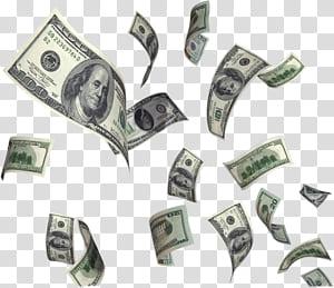 Uang Dolar Amerika Serikat Uang tunai terbang, Uang Terbang Dolar, uang kertas 100 dolar AS png