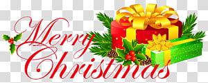 merah dan hijau Selamat Natal, Natal, Selamat Natal dengan Hadiah png