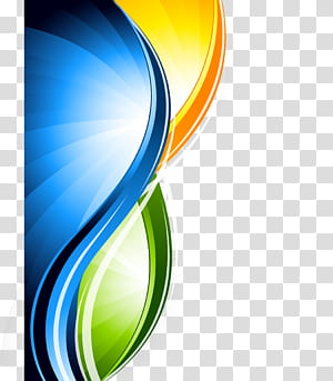 Desain grafis, bahan latar belakang garis abstrak, logo kuning, hijau, dan biru png