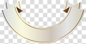 pita putih, Bahan Merek Font Kuningan, Spanduk Putih dan Emas PNG clipart
