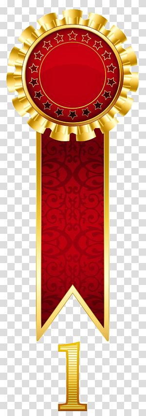 ilustrasi pita merah dan emas, Kompetisi Penghargaan Hadiah Nobel, Hadiah Emas Rosette png