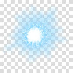 Efek cahaya meteor ajaib, cahaya biru png