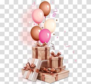 hadiah dan balon, Hadiah Ulang Tahun Natal, Banyak hadiah png