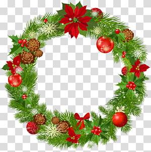 Dekorasi Natal Karangan Bunga, Karangan Bunga Natal Deco Besar, Ilustrasi Karangan Bunga Natal png