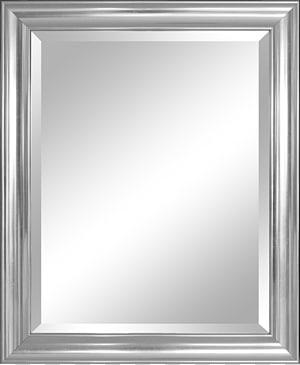 bingkai abu-abu, bingkai Cermin Perak Bevel Dinding, Cermin png