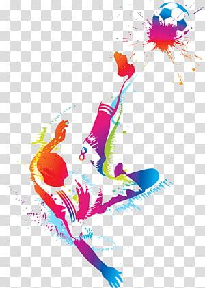 Pemain sepak bola, Pria bermain sepak bola, pria menendang ilustrasi bola sepak png