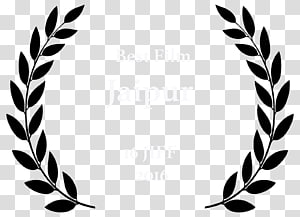 latar belakang hitam dan coklat dengan overlay teks, laurel wreath bay laurel template, award PNG clipart