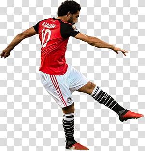 Tim sepak bola nasional Mesir Pemain sepak bola Piala Dunia FIFA Olahraga, mohamed salah egypt, pria yang mengenakan kaos sepak bola merah png