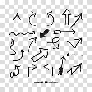 simbol panah hitam, Arrow Euclidean, panah yang digambar tangan png