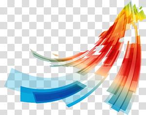 Curve Euclidean Line, garis kurva geometris abstrak berwarna-warni, biru, hijau, merah, oranye, dan lukisan abstrak kuning PNG clipart
