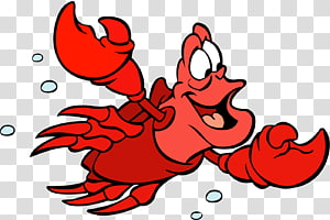 Karya seni lobster Little Mermaid, Sebastian Ariel Disney Princess Polochon, lobster png