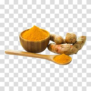 bubuk tormeric dalam pot, Turmeric Organic food Masakan India Curcumin Powder, jari kunyit png
