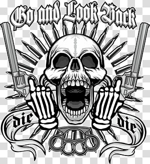 Ilustrasi Go and Look Rock, Skull Firearm, ambil kerangka pistol PNG clipart