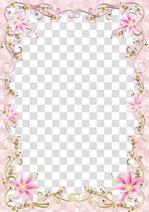 bingkai Template, Bingkai Perbatasan Bunga, garis pink romantis, bingkai bunga merah muda png