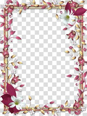 bingkai, Mood Frame s, bingkai digital bunga merah dan putih png