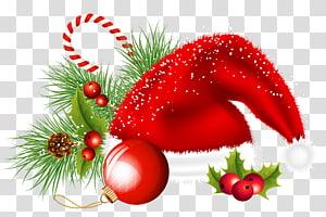 Hiasan Natal Hiasan Natal, Hiasan Santa Natal dan Hiasan Hiasan, topi bertema Natal PNG clipart
