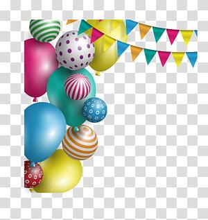 balon dan panji-panji, Liburan Pesta Ulang Tahun Balon, liburan Natal Tahun Baru, balon bunting png