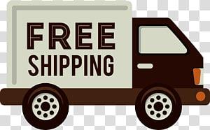 ilustrasi truk kotak cokelat dan putih, Ilustrasi Layanan Kurir Pengiriman, truk logo truk png