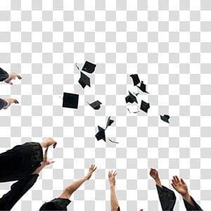 Lulusan melemparkan mortarboard di udara, Wisuda upacara Square topi akademik Tassel Hat, Toss topi kelulusan png