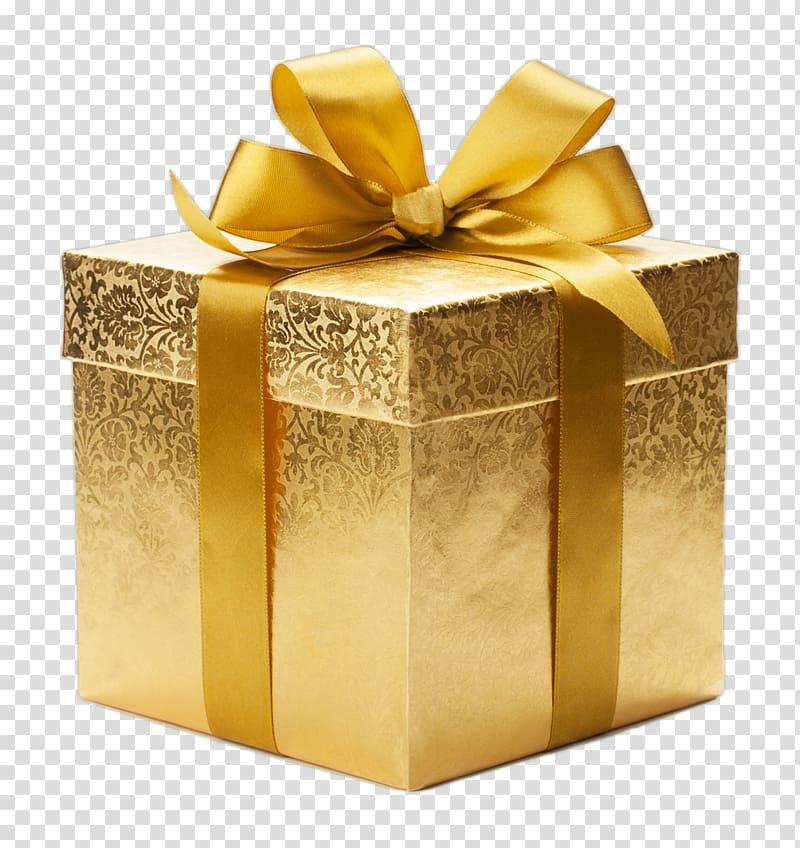 kotak hadiah emas, Kotak Kertas pembungkus Hadiah, Hadiah png
