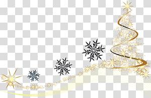 ilustrasi bintang dan serpihan salju, Natal, elemen Natal png