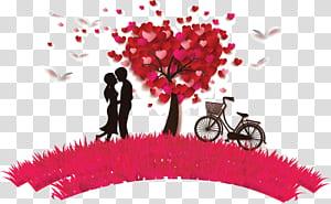 Jatuh cinta Romantis Perasaan penting lainnya, Tanabata stiker cinta romantis, pasangan dekat lukisan pohon PNG clipart