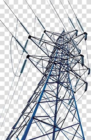 menara utilitas abu-abu, Menara transmisi tegangan tinggi Kawat transmisi daya listrik, Menara kawat tegangan tinggi png