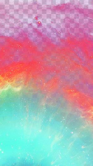 Cat akrilik Lukisan Cat Air Langit, Warna Galaxy, oranye, biru, dan abstrak merah png