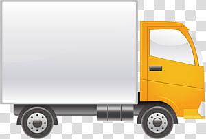 truk kotak abu-abu dan kuning, Uang tunai untuk kendaraan bermotor Layanan bengkel mobil, Bahan truk png